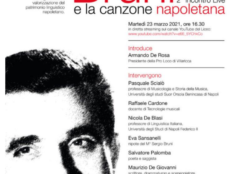 """2° Incontro live """"Sergio Bruni e la Canzone napoletana""""   23 Marzo"""